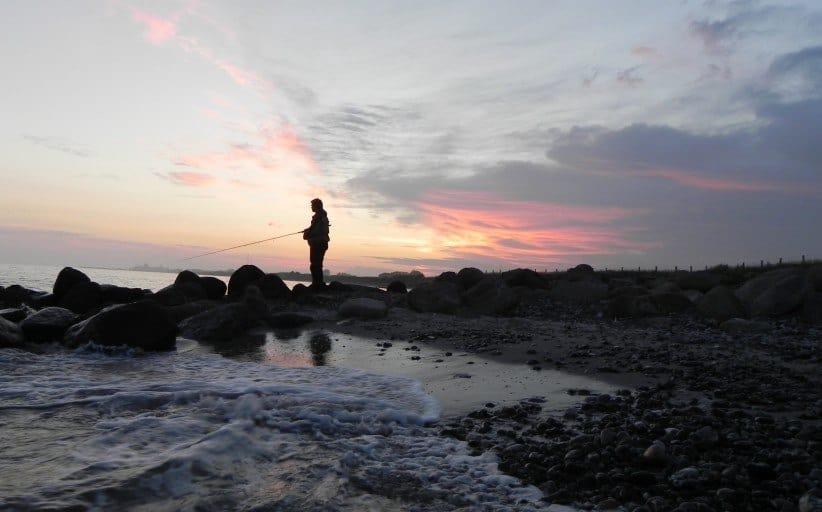 Aften lystfiskeri ved Gedser
