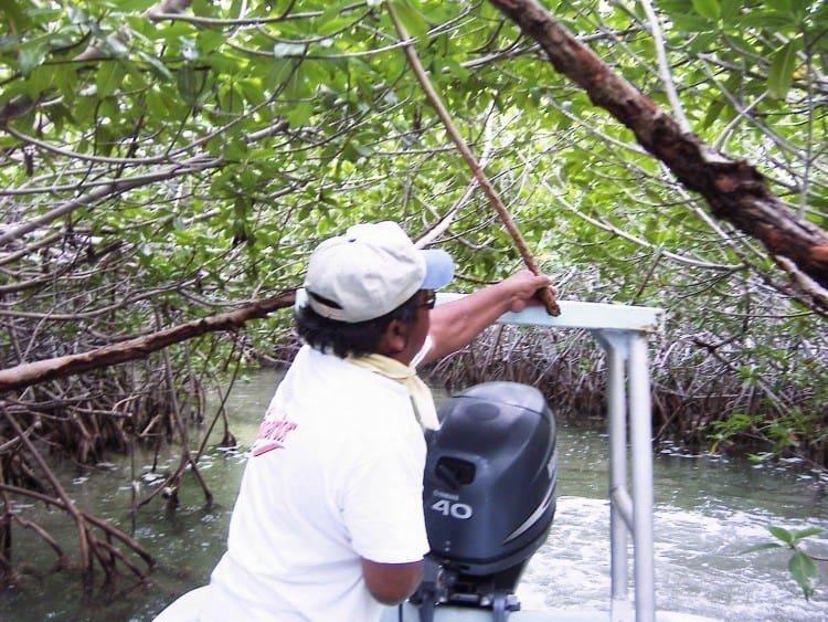 Manuel frigør agter, hvor en pind er kommet på tværs